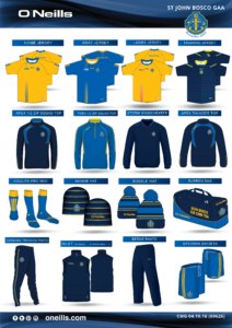 Christmas Club Gear Order – Thurs 6th Oct