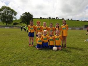 Under 10 Girls in their 1st Tournament